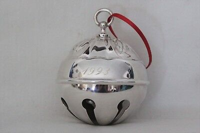 Reed and Barton 1993 Limited Edition Silver Plated Holly Bell