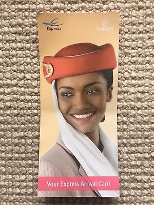 Express International Arrival Card. Fast track your travel EMIRATES