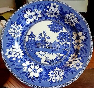 Edward Leigh Gallery Reproduction Blue & White Transfer Ware Elephant Pattern