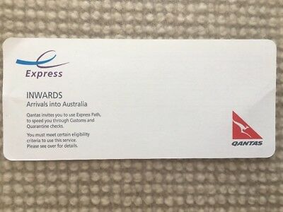 Express International Arrival Card. Fast track your travel QANTAS