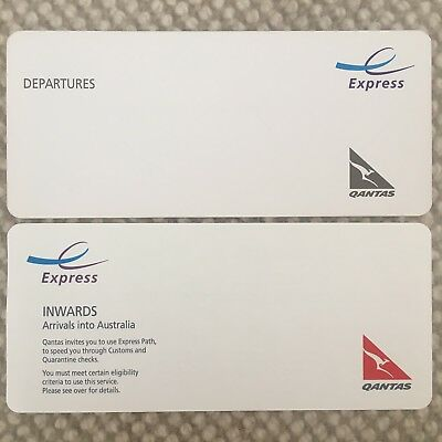 Express International Departure + Arrival Card. Fast track your travel QANTAS