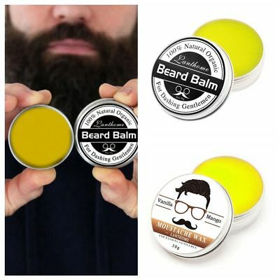 Gift Styling Hair Premium Grooming Moustache Balm Natural Oil Moustache Wax