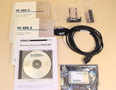 National Instruments PCMCIA-GPIB Interface Card + Latching Cable + Strain Relief