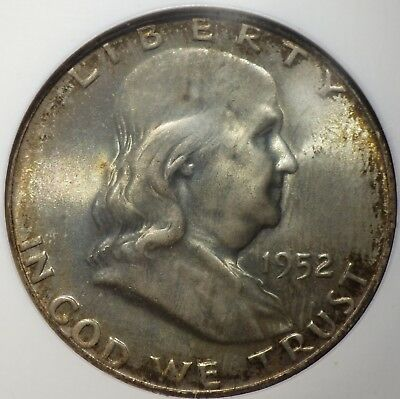 1952 Franklin Half Dollar NGC graded MS 66 FBL  Light Crusty Toning