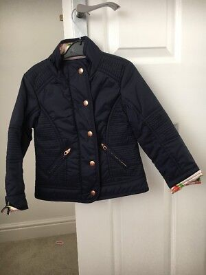 Girls Ted Baker Lighted Padded Coat Navy 4-5 Yrs