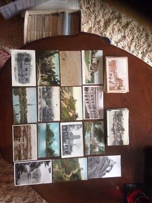 3 Postcard Album Containing 152 Topographical Postcards Very Nice Collection