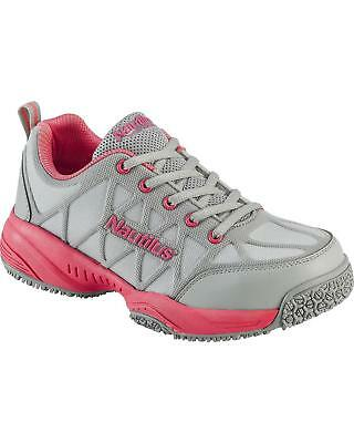Nautilus Women's Grey and Athletic Work Shoes - Composite Toe  - N2155-9M