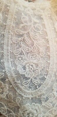 WOW!! Lot of 3 Antique Vintage French Net Lace Tambour Lace Collars Bodice etc.