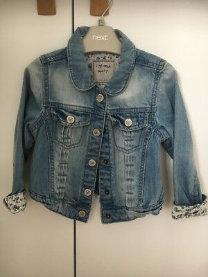Girls NEXT Blue Denim Jacket - age 3-4yrs - Excellent condition