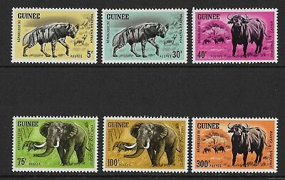 Stamps. Guinea. Sg 447-52. MNH. Cat £10