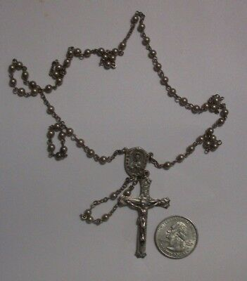 Antique Sterling Rosary with Sterling Beads 16.7 gms