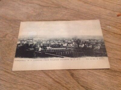 Antique Postcard Hopewell NJ Looking From Ralston Heights 1907