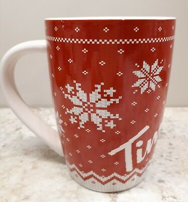 Tim Hortons 2015 Christmas Mug red Limited Edition # 015 Series