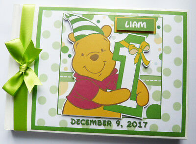 Personalised Disney Winnie The Pooh 1St Birthday Guest Book - Any Design