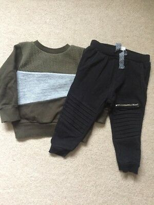 Used Boys Jumper & Joggers - Age 12-18 Months - Next & Zara
