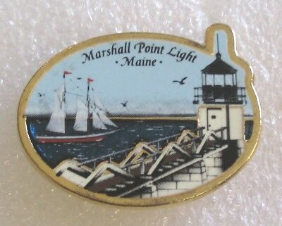 Marshall Point Light - Maine Tourist Travel Souvenir Collector Pin - Lighthouse