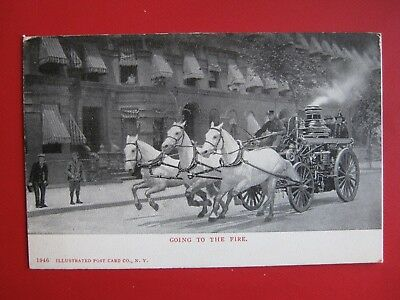 Nice Vintage Postcard - Going To The Fire.