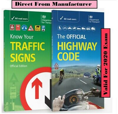 DSA OFFICIAL HIGHWAY CODE 2019 and KNOW YOUR TRAFFIC SIGNS PAPERBACK UK*Trfc+Hw