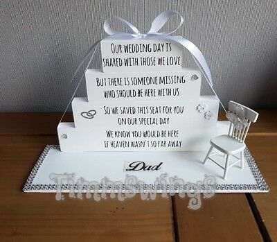 Personalised Wedding Day In Heaven save them a seat stacking Blocks