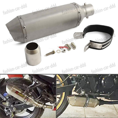 Titanium Exhaust Muffler Pipe With Removable DB Killer 38MM-51MM For Motorcycle