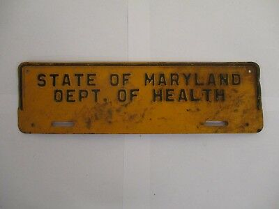 1950s Maryland DEPARTMENT OF HEALTH BOOSTER  License Plate Tag