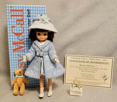 """BETSY McCALL SHOPS at the TOY SHOPPE - TONNER 8"""" Doll - LIMITED EDITION - RARE"""