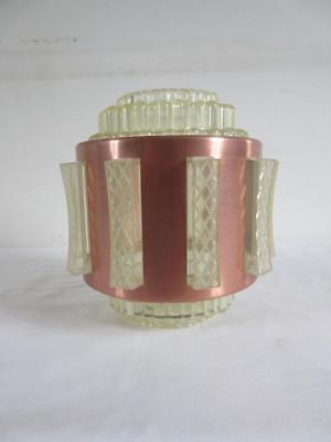 Lovely Vintage Retro 1960's/ 70's Gold Metal & Opaque Plastic Light Shade