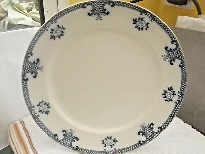 1930s BOURNE & LEIGH  DINNER PLATE IN BLUE AND WHITE LOWESTOFT  PATTERN
