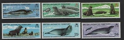 BRITISH ANTARCTIC TERRITORY SG 113-SG 118 SEAL CONSERVATION 1983 Unmounted MNH