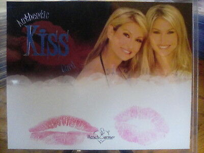 2005 Benchwarmer Box Topper Dual Kiss Card The Costello Twins Silver Foil