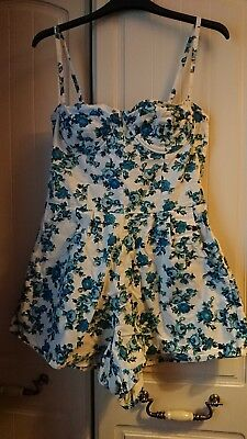 Topshop Size 12 Liberty Floral Print Playsuit, Only Worn Once!
