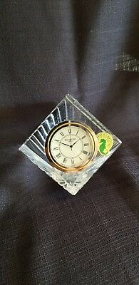 Waterford Crystal Cube Desk Clock Seiko Clock Insert Waterford