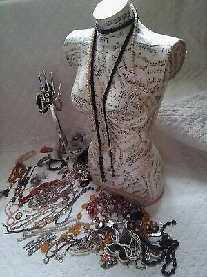 Huge job lot of antique and vintage costume jewellery Spares or repair