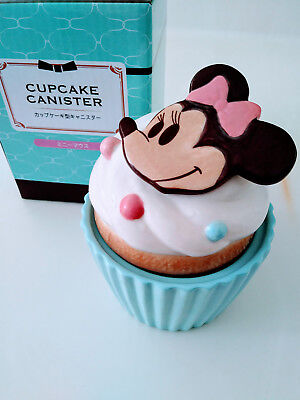 Disney Minnie Mouse Cupcake Canister Ceramic Decor Container Disneyana Japan