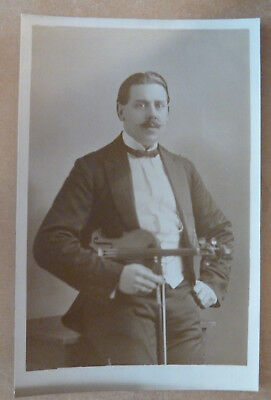 Real Photo Postcard Violin Player, Photo By F J Seanan, Hull, York, Scarborough