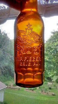 FAUST FP FIEGER ERIE PA Beer Bottle Anheuser Busch Pre Prohibition Eagle Rare