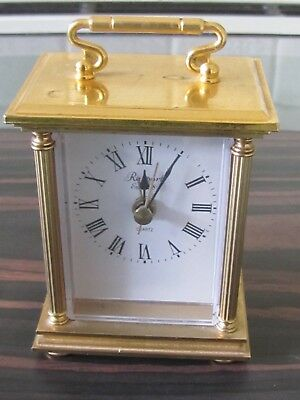 RAPPORT Brass Quartz Mantle / Carriage  Clock -  Working - alarm - small size