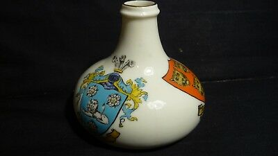 Goss China Ludlow Sack Bottle - 3 Crests - Queen Anne