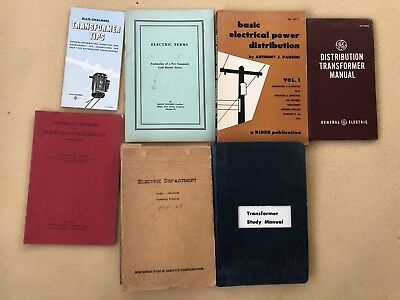 Lot of Vintage Electric Power Distribution books/pamphlets (7)