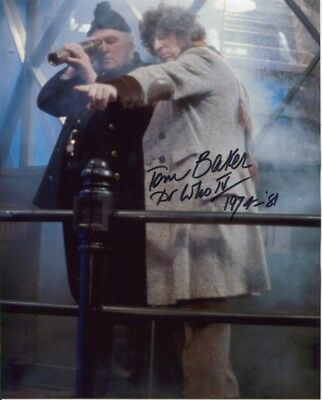 Tom Baker Photo Signed In Person - Doctor Who - C889