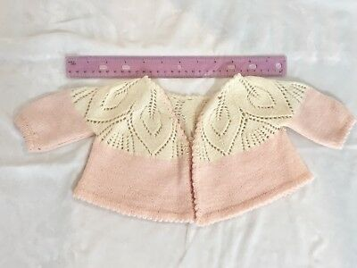 Vintage Hand Knit Pink Infant Sweater