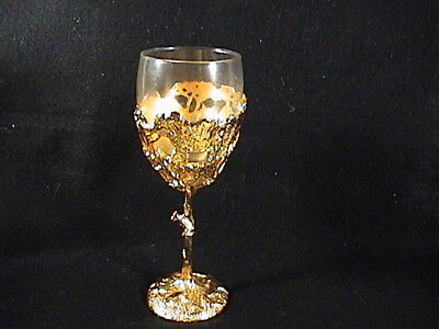 Gold Plated Goblets By S.A.M, R. Scott Jarvie, African, Lions Elephants.