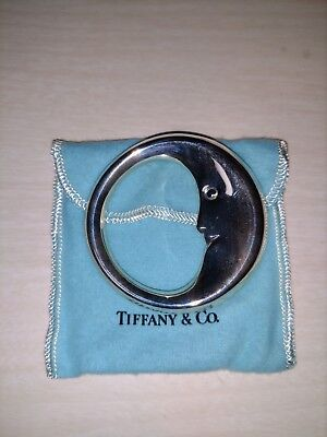 Tiffany & Co .925 Sterling Silver Man In the Moon Baby Rattle