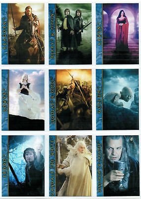 Lord Of The Rings Return Of The King New Line Cinema 9 Card Promo Set, Mexico