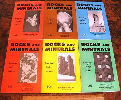 ROCKS & MINERALS MAGAZINES Vol 38 All 6 Issues Complete 1963 Mineralogy Lapidary