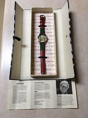 "Jerry Garcia Watch ""Who Goes There"" Rare Limited Edition 1/250 WORKING"