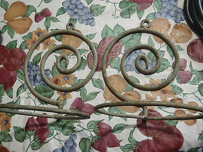 "vintage plant wall hanger 6"" pot lot of 2 steel with very nice patina/design"
