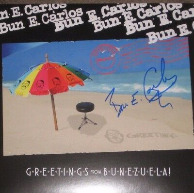 Bun E Carlos Signed Greetings From Bunezuela Vinyl Lp Rare! Cheap Trick Awesome