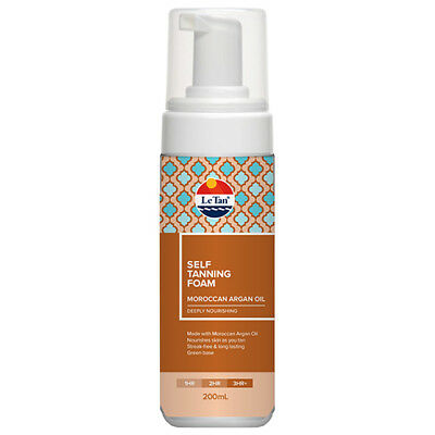 NEW Le Tan Self Tanning Foam Moroccan Argan Oil - 200mL