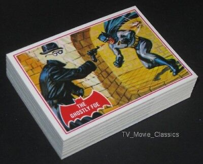 BATMAN (Red Puzzle) © 1966 Topps Complete 44 Reissue Comic Card Set